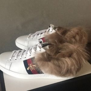 Gucci Men's Ace sneaker with Fur